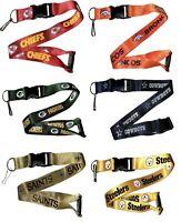 NFL Football Team Logo Lanyard Breakaway Keychain- Pick Team