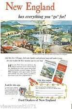 Ford Dealers New England Advertisement 1956 Customline  car vehicle ad holiday