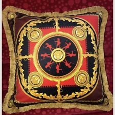 "VERSACE PILLOW MEDUSA CUSHION ICONIC HEROES RETIRED ITALY 19"" RETAIL $500 NEW"
