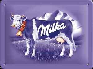 Tin Sign 15 x 20 cm - Milka Cow