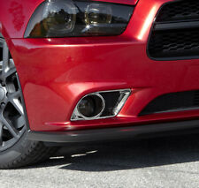 2pcs Chrome Molding Front fog Cover Trim for Dodge Charger 2011-2014