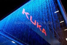 3m Premium Wasserleinwand 3 reihig für Laser, Beamer und Video Shows