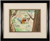 Winnie Pooh original production cel Key Master Background hand painted obg