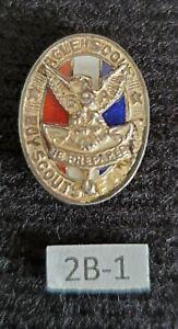 Vintage Type 2b-1 Sterling Silver Eagle Boy Scout Hat Pin Medal Award Rank