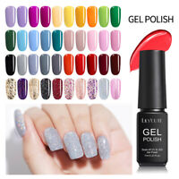 LILYCUTE Nail UV Gel Polish Soak off Nail Art UV/LED Top Base Coat Gel 146Colors
