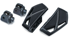 Kuryakyn Gloss Black Phantom Mini Floorboards Front Adapters Suzuki Bolevard M50