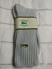 Vintage Izod Lacoste Men's Size 10-13 Socks New Virginia gray