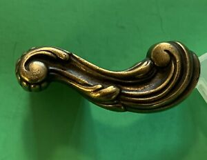 """Brass Farmhouse antique hardware drawer pull cabinet handle French 3/4""""center"""
