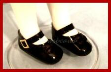 "BLACK Patent Doll SHOES fit 13"" Effner LITTLE DARLINGS Tonner 14"" Betsy McCall"