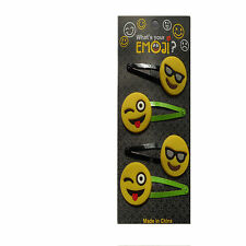 Emoji Hair Clips, Grips, 4pk Ladies, Girls, Childrens Hair Grips  Freepost!