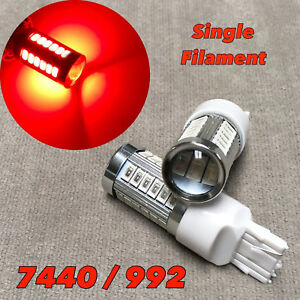 Rear Signal Light T20 7440 992 WY21W 33 samsung LED RED Bulb for Lexus Scion