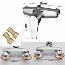 Bathroom Tub Hot&Cold Water Shower Faucet Valve Mixer Wall Mount For Bath Toilet