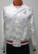 vtg TEAM USA OLYMPICS 80s White Satin Jacket MED Zee Medical Sponsor 1984/1988 M