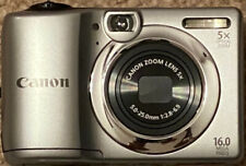 Canon PowerShot A1300 16MP Digital Camera Silver with Carry Case & 32GB SD Card