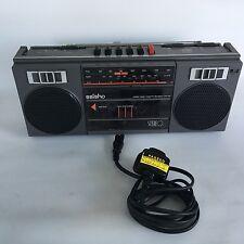 Wonderful Retro Saisho Grey Radio Cassette Recorder. Great working order.