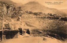 C000795    MESSINA  TAORMINA TEATRO  TEATRO  GRECO   VG 1909