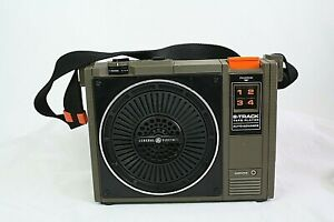 Vtg GE Portable 8 Track Tape Player 3-5505D Strap & Power Cord SHIPS SAME DAY