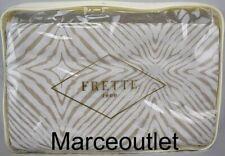 Frette 1860 Perline Cotton Sateen King Duvet Cover Beige / Ivory