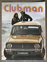 1971 British Leyland Mini Clubman original Australian sales brochure 4/71 stamp