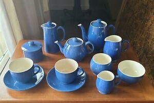 MOORCROFT POWDER BLUE COFFEE TEA SET POTS SUGAR CREAMER CUPS MORE FREE SHIPPING