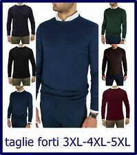 maglione uomo pullover lana maglia cardigan invernale taglie forti 3xl 4xl 5xl