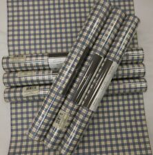 Country Plaid Wallpaper Blue Red #AG042832 (Lot of 6 Double Rolls)