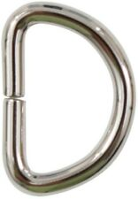 "25 Pack D Rings 3/4"" Nickel Plated Iron Heavy Duty Non Welded Clip"