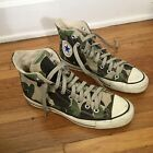 Vintage 80s Made in USA Converse All-Star Hi Camo Camouflage size mens 6.5