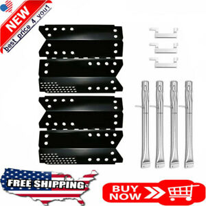 Grill Burners Tube Heat Plates  Kit for Stok Quattro 4 Burner Grills Carry Over