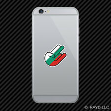 Bulgarian Shocker Cell Phone Sticker Mobile Bulgaria BGR BG