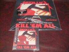 METALLICA KILL EM ALL DELUXE 45 SPEED 2 LP SET + JAPAN REPLICA GATEFOLD OBI CD