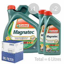 Engine Oil and Filter Service Kit 6 LITRES Castrol Magnatec 5W-40 C3 6L