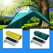 Outdoor Camping Tent Portable Beach Canopy UV Sun Shade Triangle Shelter Set