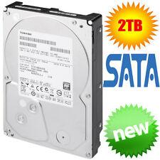 """Toshiba 2TB HDD 3.5"""" SATA 3 SATA 8 7200rpm 64MB Internal Hard Drive Desktop PC"""