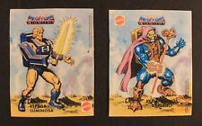 1988 Masters Of The Universe LASER POWER HE-MAN & LASER LIGHT SKELETOR STICKERS