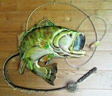 Bass Largemouth Wall Decor Sculpture Lodge Cabin Fishing