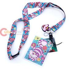 Alice in Wonderland Cheshire Cat Lanyard Key Chain ID Pocket