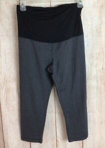 Be Maternity By Ingrid & Isabel Active Legging Crossover Panel Sz L Nine Iron