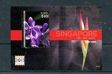 St Kitts 2015 MNH Singapore 2015 Sites & Scenes 1v S/S Botanic Gardens Flowers