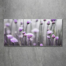 Glas-Bild Wandbilder Druck auf Glas 120x60 Blumen & Pflanzen Schnittlauchblumen