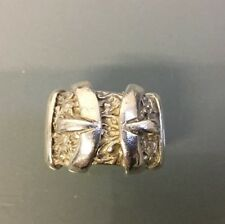 Men's Heavy Solid Silver 'Buckle' Ring Size V Weight 35.87g Quality Stamped