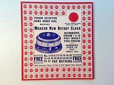 Vintage punch board-circa 1940's-gambling-Lotto-Trade Simulator-New Old Stock