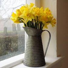 Regency vintage metal flower pitcher jug