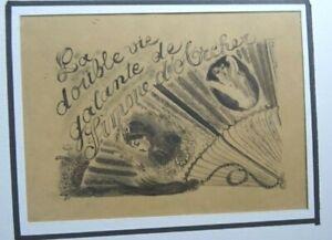 CHAS LABORDE PEINTRE MONTMARTRE DESSIN ORIGINAL ENCRE ILLUSTRATION VERS 1920