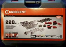 Crescent 220pc Professional Tool Set - New Socket and other Sae & Metric Tools!