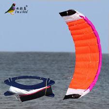 2m Power Dual Line Stunt Parafoil Parachute Beach Kite surfing outdoor fun Toys