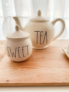 Rae Dunn Ceramic Sugar Bowl 'Sweet'- Rare!