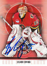 LELAND IRVING FLAMES AUTOGRAPH AUTO 08-09 BETWEEN THE PIPES #30 *21021