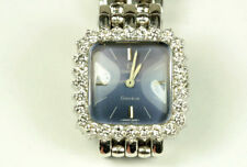 Vintage Omega Ladies Mechanical 18K White Gold Diamond Watch Excellent