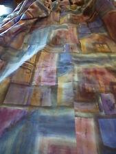 rideau ,h 2m,58x2m,19 large ou récup joli tissu neuf bleu ,parme ,pastels